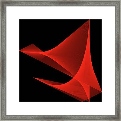 Framed Print featuring the digital art Passion by Karo Evans