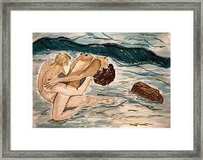Passion Of Love. Framed Print by Shlomo Zangilevitch