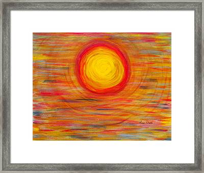 Passion Sun Framed Print