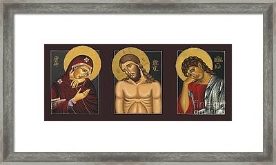Passion Triptych Framed Print