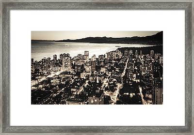 Framed Print featuring the photograph Passionate English Bay Mccclxxviii by Amyn Nasser