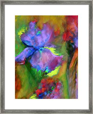 Passionate Garden - Abstract Framed Print by Georgiana Romanovna