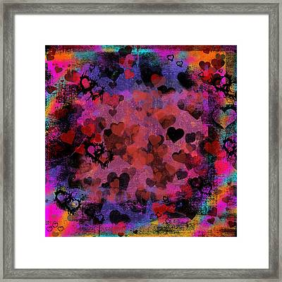 Passionate Hearts I Framed Print