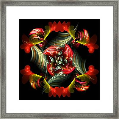 Passionate Love Bouquet Abstract Framed Print by Georgiana Romanovna