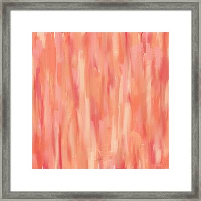 Passionate Peach Framed Print by Lourry Legarde