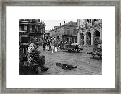 Passionate Performance On St. Charles Framed Print by J Michael Whitaker