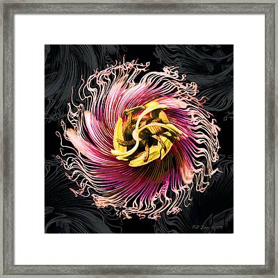 Passionfruit With A Twist Framed Print by Bill Jonas