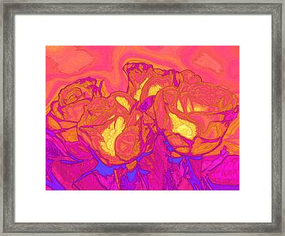 Passion's Petals Framed Print by Wendy J St Christopher