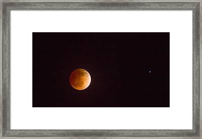 Passover Blood Moon II Framed Print by Carolina Liechtenstein