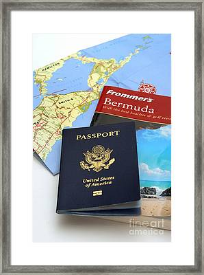 Passport Frommers Travel Guide And Map Framed Print