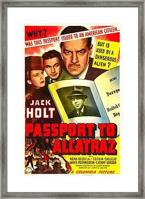 Passport To Alcatraz, Us Poster Framed Print by Everett