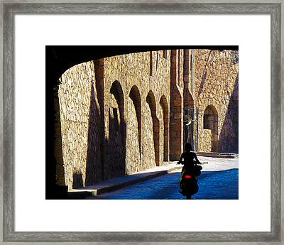 Past And Present Framed Print by Douglas J Fisher