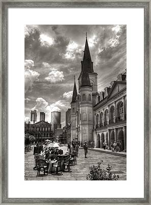 Past Present Future In Black And White Framed Print by Greg and Chrystal Mimbs