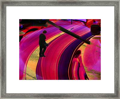 Past-present-future Framed Print by Lenore Senior