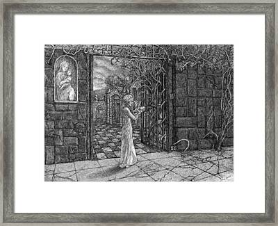 Past The Gate Framed Print