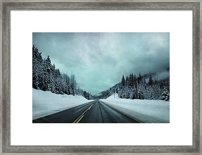 Past The Hills  Framed Print