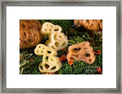 Pasta Bunnies Framed Print by Iris Richardson
