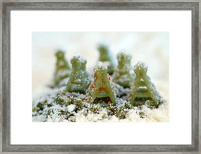 Pasta Christmas Trees Framed Print by Iris Richardson