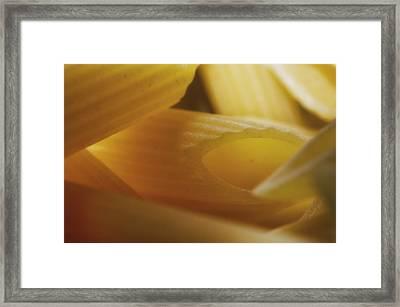 Pasta Macro Framed Print