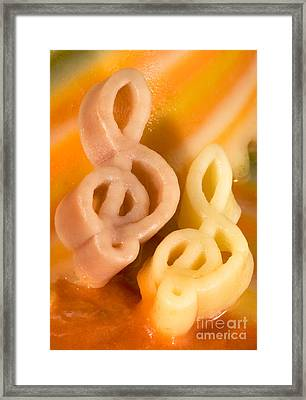 Pasta Musik Framed Print by Iris Richardson