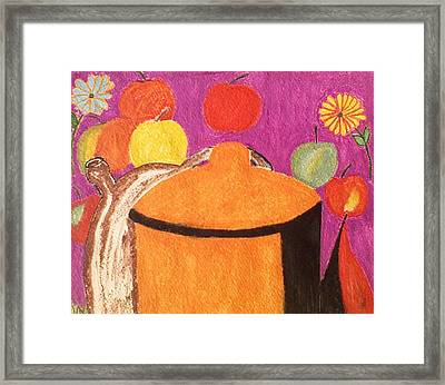 Pasta Pot II Framed Print by Lew Griffin