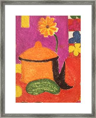 Pasta Pot Framed Print by Lew Griffin