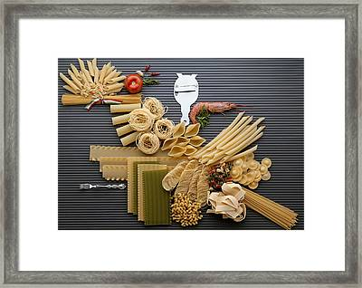 Pasta Framed Print by R. Marcialis