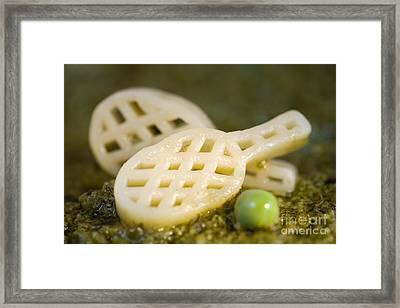 Pasta Tennis Rackets Framed Print