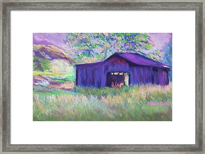 Pastel Barn II Framed Print