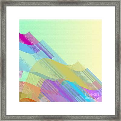 Pastel Beziers Half Framed Print