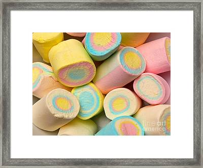 Pastel Colored Marshmallows Framed Print by Amy Cicconi