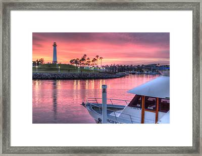 Pastel Colored Sunset Framed Print by Heidi Smith