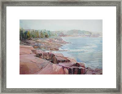 Pastel Cove Framed Print