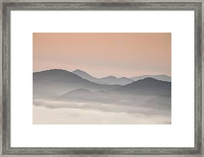 Pastel Dawn In The Smokies Framed Print