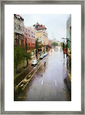 Pastel Drizzle Framed Print by Aleksander Rotner