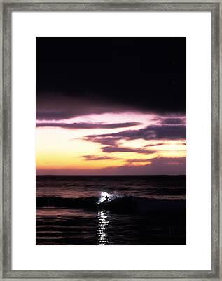 Pastel Flash Framed Print by Sean Davey