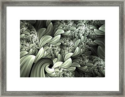 Pastel Garden Abstract Framed Print by Georgiana Romanovna