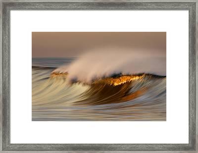 Pastel Gold Wave  Mg9082 Framed Print