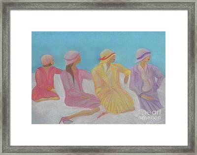 Pastel Hats By Jrr Framed Print by First Star Art