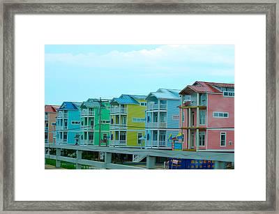 Pastel Houses Framed Print by Randi Grace Nilsberg