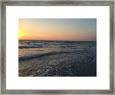 Pastel Indian Rocks Shore Framed Print
