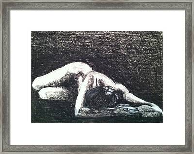 Pastel Inspired By Ruth Bernhard's Perspective II Framed Print