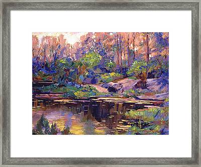 Pastel Lake At Dawn Framed Print