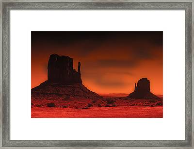 Pastel Monument Valley Framed Print by Gary Cain