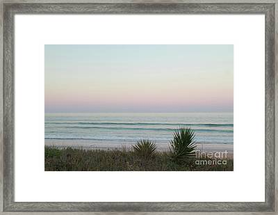Pastel Moonrise Framed Print
