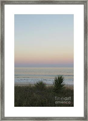 Pastel Moonrise II Framed Print