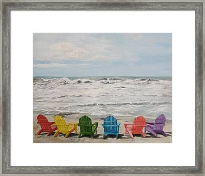 Framed Print featuring the painting Pastel Paradise by Sandra Nardone