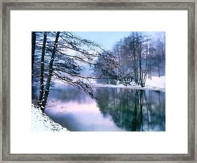 Pastel Pond Framed Print by Jessica Jenney