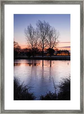 Pastel Reflections Framed Print