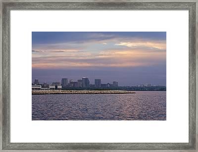 Pastel Shoreline Framed Print